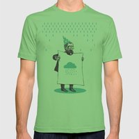 It's raining. Mens Fitted Tee Grass SMALL