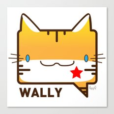 Convo Cats! Wally Canvas Print
