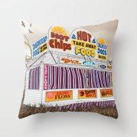 Carnival Food Van Throw Pillow