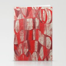 SCRIBBLE RED Stationery Cards