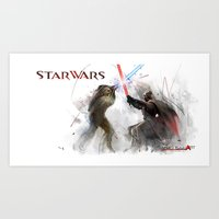Star Wars Duel  Art Print