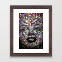 Marilyn Mosaic Framed Art Print