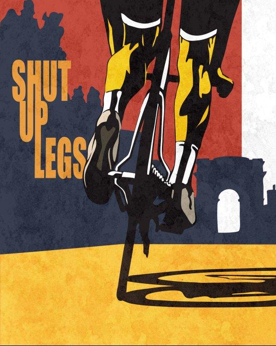 Retro Tour de France Cycling Illustration Poster: Shut Up Legs Art Print