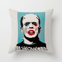 =Boris Karloff=FASHIONVICTIM= Throw Pillow