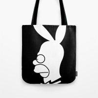 Playboy Homer White & Bl… Tote Bag