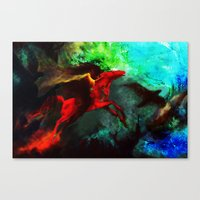 Wind Göttin Canvas Print