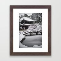 Kyoto Winter 2015 Framed Art Print