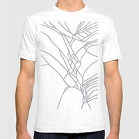Cracked White on Grey Mens Fitted Tee White SMALL