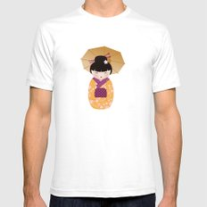 SNOW-kokeshi Mens Fitted Tee White SMALL