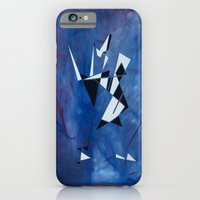 iPhone & iPod Case featuring blue pattern art  by takingachancexo