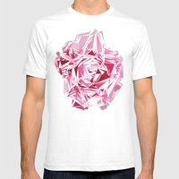 Broken Peony Mens Fitted Tee White SMALL