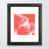 Coral jellyfish  Framed Art Print