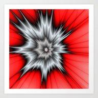 Crazy, Abstract Fractal … Art Print