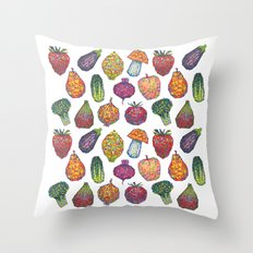 Vitamins - white Throw Pillow