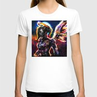 metal angel Womens Fitted Tee White SMALL