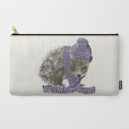 Carry-All Pouch - little winter hedgehog - bri.buckley