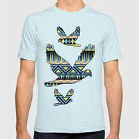 Pattern Playtime Mens Fitted Tee Light Blue SMALL
