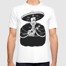 The Fat Mariachi Mens Fitted Tee White SMALL