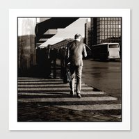 In a hurry Canvas Print