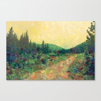 Miles To Go Before I Sle… Canvas Print