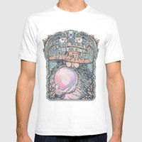 Wizard Print Mens Fitted Tee White SMALL