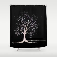 Dark elven tree Shower Curtain