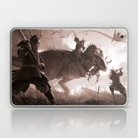 T. rex vs Samurai Laptop & iPad Skin