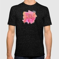 refuse to be average Mens Fitted Tee Tri-Black SMALL