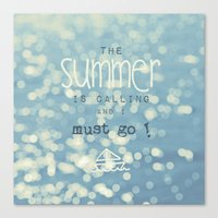 SUMMER IS CALLING Canvas Print