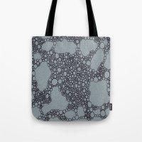 Black Bubbles  Tote Bag