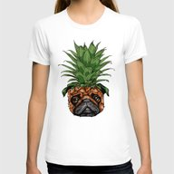 T-shirt featuring Pineapple Pug  by Huebucket