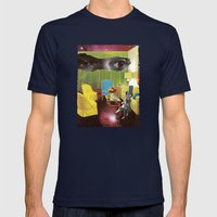 Eyes across the Universe Mens Fitted Tee Navy SMALL