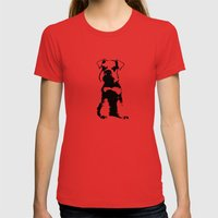 Miniature Schnauzer Womens Fitted Tee Red SMALL