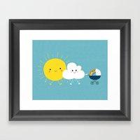The Weather Family Framed Art Print
