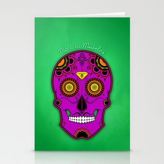 dia de los muertos (sugar skull) Stationery Card