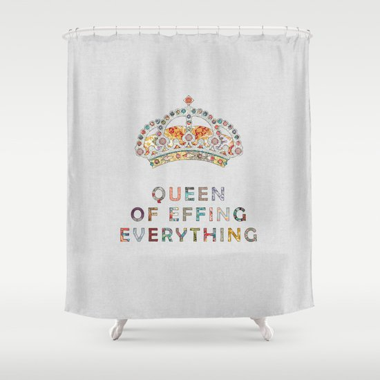 her daily motivation Shower Curtain