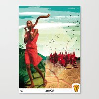 Poster Afryka! Canvas Print