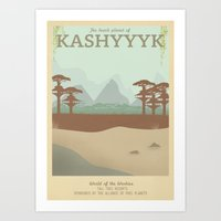 Retro Travel Poster Series - Star Wars - Kashyyyk Art Print