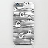 PEEPING TOM [BLK & WHT] iPhone 6 Slim Case
