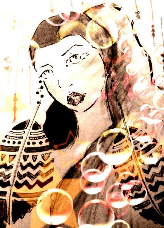 Feather Earrings Art Print