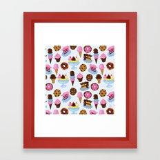 Dessert Pattern Framed Art Print