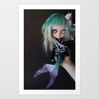 LITTLE MARINERITA SIREN (Ooak BLYTHE Doll) Art Print