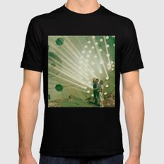 the light pours out of me SMALL Mens Fitted Tee Black