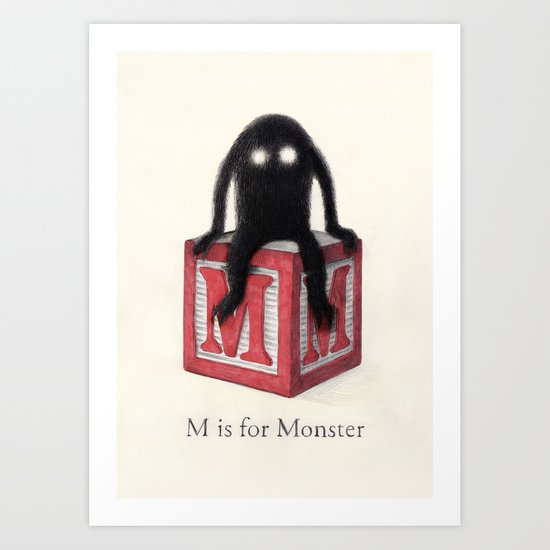 Sunday's Society6 | M is for Monster art print