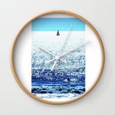 Sailboat and Swimmer Wall Clock