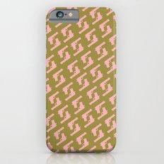 Forest Green Gun Pattern iPhone 6s Slim Case