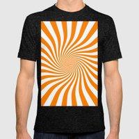 Swirl (Orange/White) Mens Fitted Tee Tri-Black SMALL