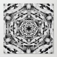 Noir et Blanc Canvas Print