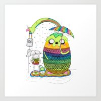Adventure Time Totoro By… Art Print