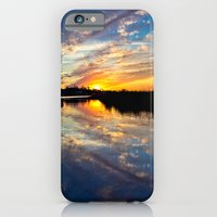 iPhone & iPod Case featuring Reflected Sunset by JMcCool